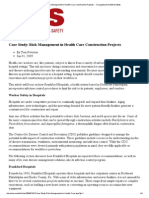 Case Study_ Risk Management in Health Care Construction Projects -- Occupational Health & Safety