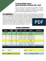 pe class schedule 2014 - 3  4 quarter