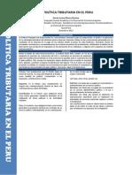 PAPER-LA POLÍTICA TRIBUTARIA EN EL PERU