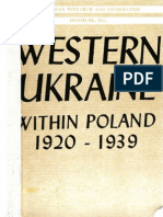 Western Ukraine Within Poland 1920-1939