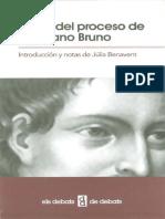 Actos Proceso Giordano Bruno