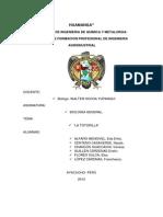 Informe de Campo de Salida de Campo Zoologico