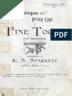 1895 Starrett Catalog