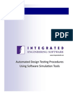 Automated Design Testing Procedures Using Software Simulation Tools