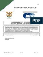 SA- Complementary Medicines Registration