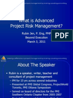 What is advanced risk management