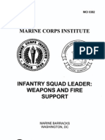 0382 Infantry Squad Leader Weapons and Fire Support