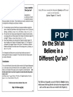Do the Shi'Ah Believe in a Different Qur'An