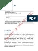 Criminal Law Naveen Kumar Shelar- Notes for Students