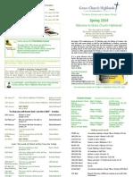 Term Card - Spring 2014