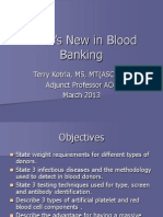 Whats New in Blood Banking March 2013