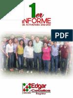 Primer Informe de Actividades - Regidor Edgar Ceballos