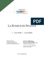 La Rumeur en Finance