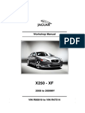 JAGUAR XF XFR X250 2008-2009 WORKSHOP REPAIR SERVICE MANUAL CD ROM
