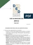 GUÍA DE REINSCRIPCIÓN ED 20142