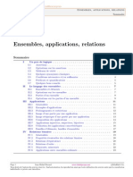 Ensembles, Applications, Relations