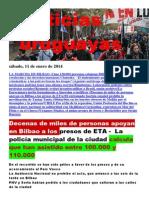 Noticias Uruguayas sábado 11 de enero del 2014