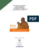 Conferencia El Arte de La Felicidad, Dalai Lama --2007 19p