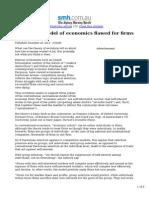 Darwinian Model of Economics Flawed for Firms (SMH)