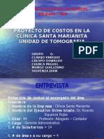 Proyecto de Costos en La Clinica Santa Marianita Unidad de Tomografia