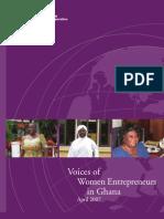 Voices of Women Entrepreneurs in Ghana (April 2007)