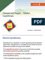 Oferta y Demanda - Equilibrio de Mercado