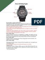 Instrucciones Para El Reloj Espía