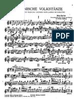 bartok b danzas rumanas para violín y piano