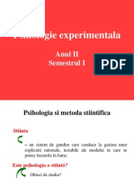 Ppt Curs Psih Experimentala