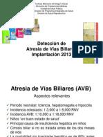 Presentación de atresia de Vías Biliares
