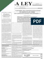 Sagues Nestor Pedro, El Control de Convencionalidad en Las Constituciones Nacionales (La Ley)