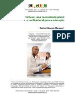 Artigo ações afirmativas necessidade plural