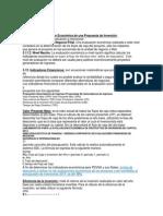 Datos de Evaluación Económica PDVSA