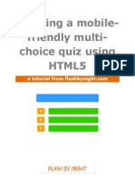 HTML5 Multi-choice Quiz Tutorial