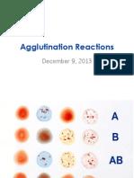 Agglutination Reactions