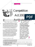 Competition Act- Critical Analysis