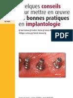 SOP Livret - Les Bonnes Pratiques en Implantologie