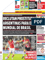 Tapa Diario Popular 12-01-2014