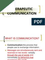 Therapeutic Communication