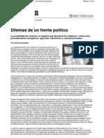 Dilemas de Un Frente Politico