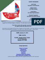 STOP Obamacare Penalties NOW Rally Flyer - Sapulpa Jan 13th