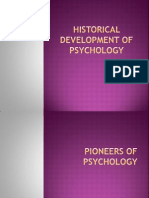 Historical Development of Psychology
