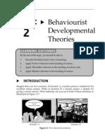 Topic 2 Behaviourist Developmental Theories