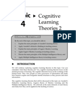 Topic 4 Cognitive Learning Theories 2