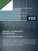 Presentacion de La Unidad 1 de Plan. Finan.