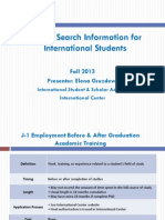 U.S. Job Search for Intl Students - International Center Slides