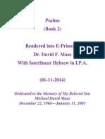 Psalms (Book 2) in E-Prime With Interlinear Hebrew 01-11-2014 Scribd