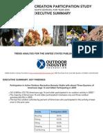 Outdoor Recreation Participation Study