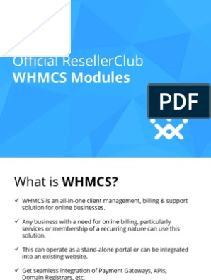 Whmcs Startup Guide | Invoice | Computing