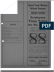 1932 Grand Trunk Western Employees Timetable
